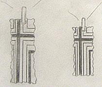 クロス&王冠のオーダーメイドペンダントのデザイン画
