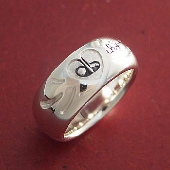 チップインの指輪(chipin)シルバー925を上から拡大