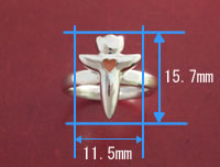 クリオネクロスリングの寸法